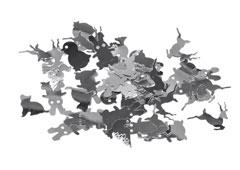 99700 Lentejuelas animales plateadas Innspiro
