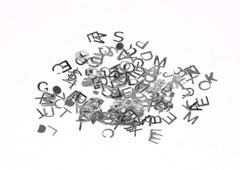 99703 Lentejuelas letras plateadas Innspiro