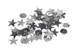 99704 Lentejuelas formas surtidas plateadas Innspiro