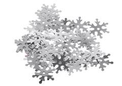 99705 Lentejuelas copos de nieve plateadas Innspiro