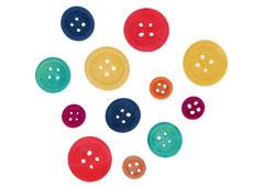 99740 Botones de madera mix colores medidas surtidas Innspiro