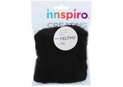 A1402 Fieltro de lana negro Felthu