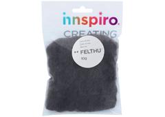 A1403 Fieltro de lana gris Felthu