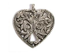 A150016 Z150016 Colgante metalico aluminio corazon plateado Innspiro - Ítem