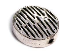 Z150049 A150049 Cuenta metalica aluminio ovalo plateado Innspiro