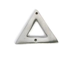 A150120 Z150120 Colgante metalico aluminio triangulo plateado Innspiro