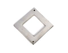 A150122 Z150122 Colgante metalico aluminio cuadrado plateado Innspiro