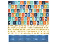 ADR-4811 Pegatinas alfabeto ADRIFT en hojas Basic Grey
