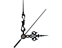 AL9301B AL9301B-1 Kit manecillas reloj aluminio negras 86 y 60mm Innspiro