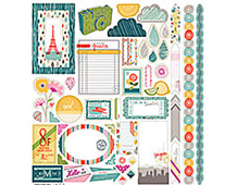 AMI-4659 MON AMI - 12X12 ELEMENT STICKERS Basic Grey