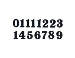 AN10B Numeros Arabigos de plastico adhesivos negros 10mm Innspiro