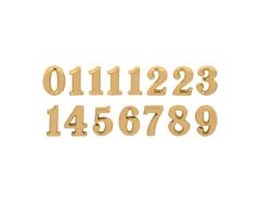 AN10G Numeros Arabigos de plastico adhesivos dorados 10mm Innspiro