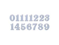 AN10S Numeros Arabigos de plastico adhesivos plateados 10mm Innspiro