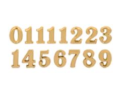 AN15G Numeros Arabigos de plastico adhesivos dorados 15mm Innspiro