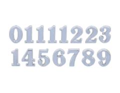 AN15S Numeros Arabigos de plastico adhesivos plateados 15mm Innspiro