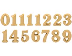 AN25G Numeros Arabigos de plastico adhesivos dorados 25mm Innspiro