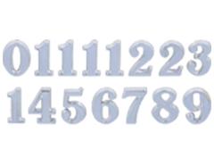 AN25S Numeros Arabigos de plastico adhesivos plateados 25mm Innspiro