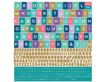 AUR-4740 Pegatinas alfabeto AURORA en hoja Basic Grey