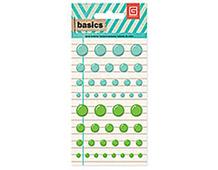 BAS-4175 BASICS - CANDY BUTTONS - AQUA GREEN Basic Grey