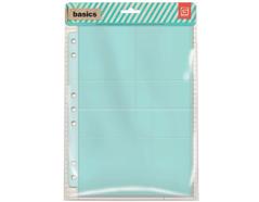 BAS-4218 Paginas plastico con bolsillos Basic Grey