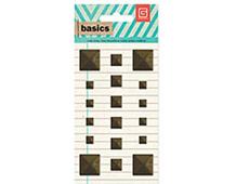 BAS-4223 BASICS - METAL STUDS - BRASS SQUARES Basic Grey