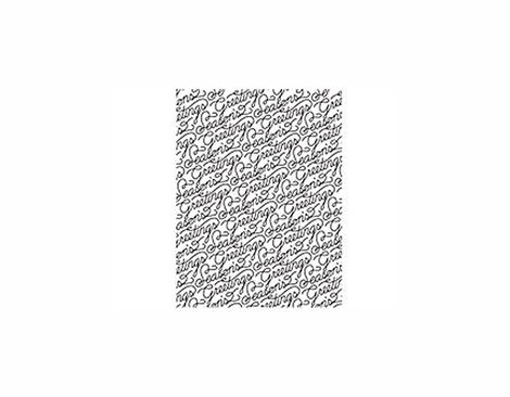 CG611 25TH PINE- SCRIPT SEASON S GREETINGS -STAMP- Hero arts