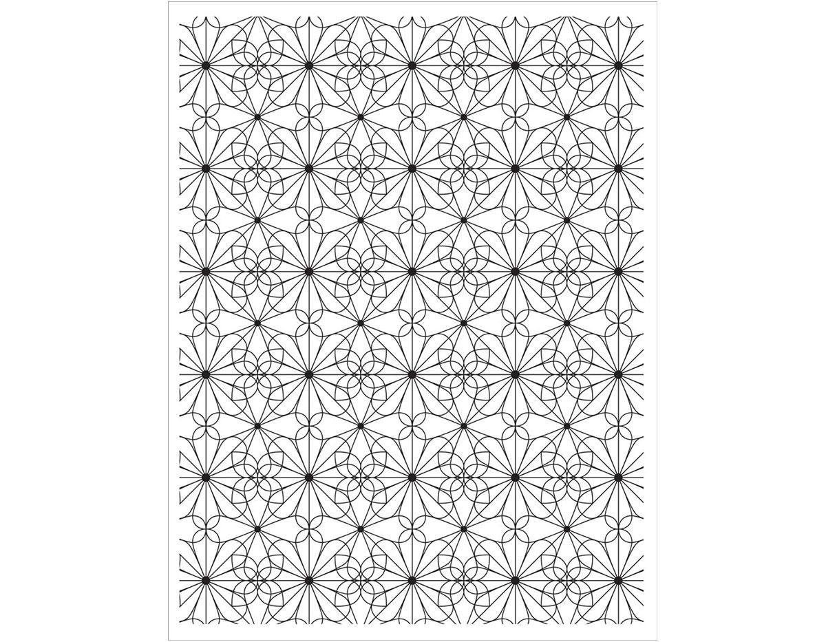 CG667 Sello de caucho Garden Tile Pattern Hero arts