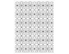 CG667 Sello de caucho Garden Tile Pattern Hero arts