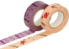 CL26337-02 Set 2 cintas adhesivas masking tape washi surtido disenos B Classiky s