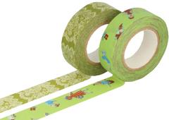 CL26337-03 Set 2 cintas adhesivas masking tape washi surtido disenos C Classiky s