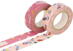 CL26337-05 Set 2 cintas adhesivas masking tape washi surtido disenos E Classiky s
