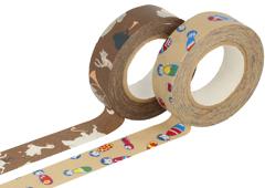 CL26337-06 Set 2 cintas adhesivas masking tape washi surtido disenos F Classiky s