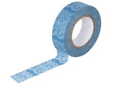 CL26338-10 Cinta adhesiva masking tape washi lace azul Classiky s