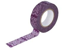 CL26338-11 Cinta adhesiva masking tape washi lace purpura Classiky s