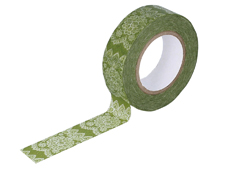 CL26338-12 Cinta adhesiva masking tape washi lace verde Classiky s