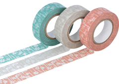 CL26531-04 Set 3 cintas adhesivas masking tape washi small flower colores surtidos Classiky s