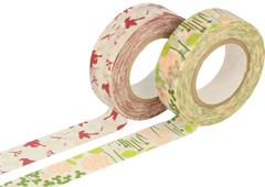 CL26532-01 Set 2 cintas adhesivas masking tape washi disenos surtidos A Classiky s