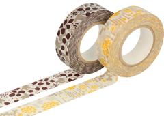 CL26532-02 Set 2 cintas adhesivas masking tape washi disenos surtidos B Classiky s