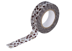 CL26533-02 Cinta adhesiva masking tape washi message bird marron Classiky s - Ítem