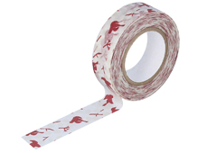 CL26533-03 Cinta adhesiva masking tape washi message bird rojo Classiky s