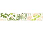 CL26533-04 Cinta adhesiva masking tape washi little garden verde Classiky s - Ítem2