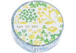 CL26533-06 Cinta adhesiva masking tape washi little garden azul Classiky s - Ítem1