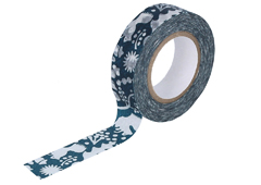 CL26533-07 Cinta adhesiva masking tape washi forest of squirrel azul marino Classiky s - Ítem