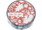 CL26533-07 Cinta adhesiva masking tape washi forest of squirrel azul marino Classiky s - Ítem1