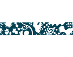 CL26533-07 Cinta adhesiva masking tape washi forest of squirrel azul marino Classiky s - Ítem2