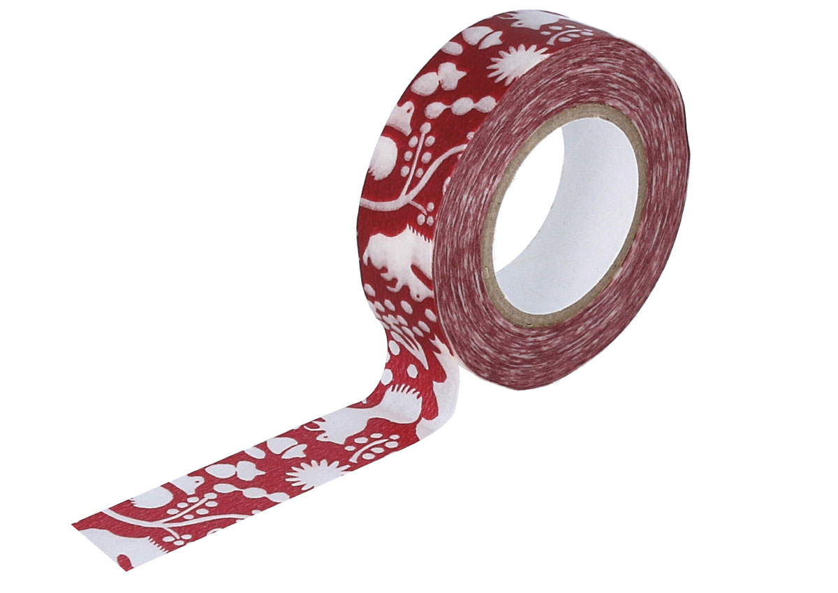 CL26533-09 Cinta adhesiva masking tape washi forest of squirrel rojo Classiky s