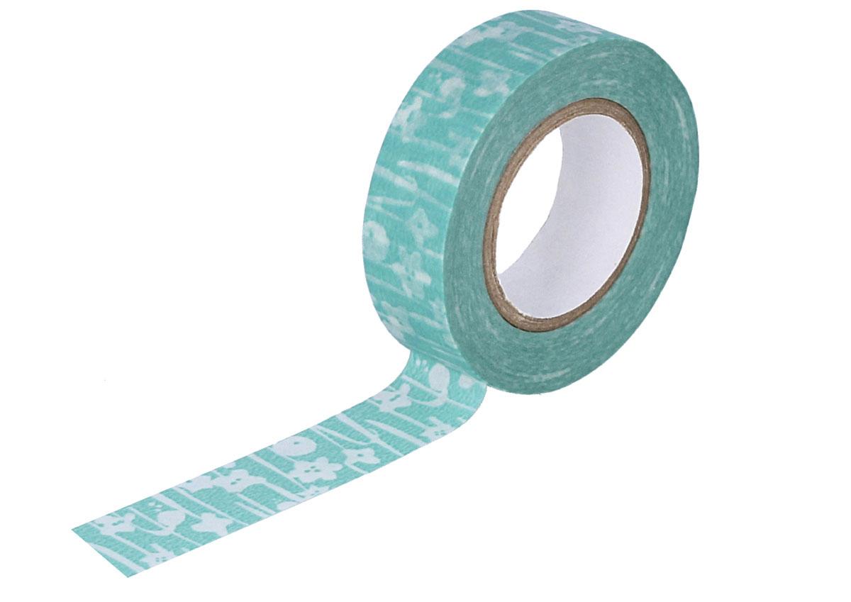 CL26533-10 Cinta adhesiva masking tape washi small flower azul Classiky s