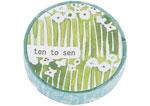 CL26533-10 Cinta adhesiva masking tape washi small flower azul Classiky s - Ítem1
