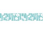 CL26533-10 Cinta adhesiva masking tape washi small flower azul Classiky s - Ítem2