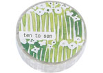 CL26533-12 Cinta adhesiva masking tape washi small flower beige Classiky s - Ítem1